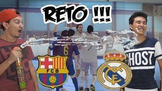 Partido EPICO con mi Hermano  - Barcelona Vs Real Madrid - El Reto de la Cachetada Extrema con Crema