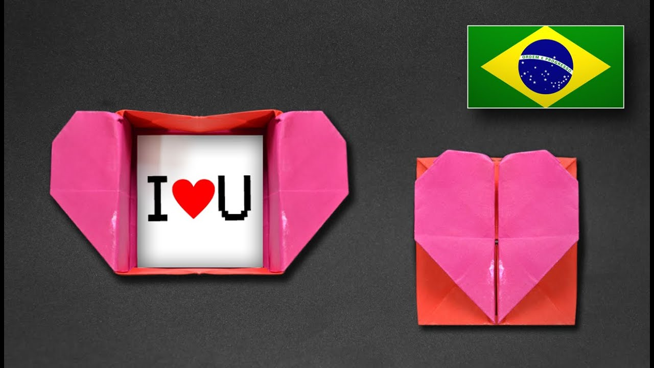 Origami Caixa Envelope De Coração Instruções Em Português Pt Br