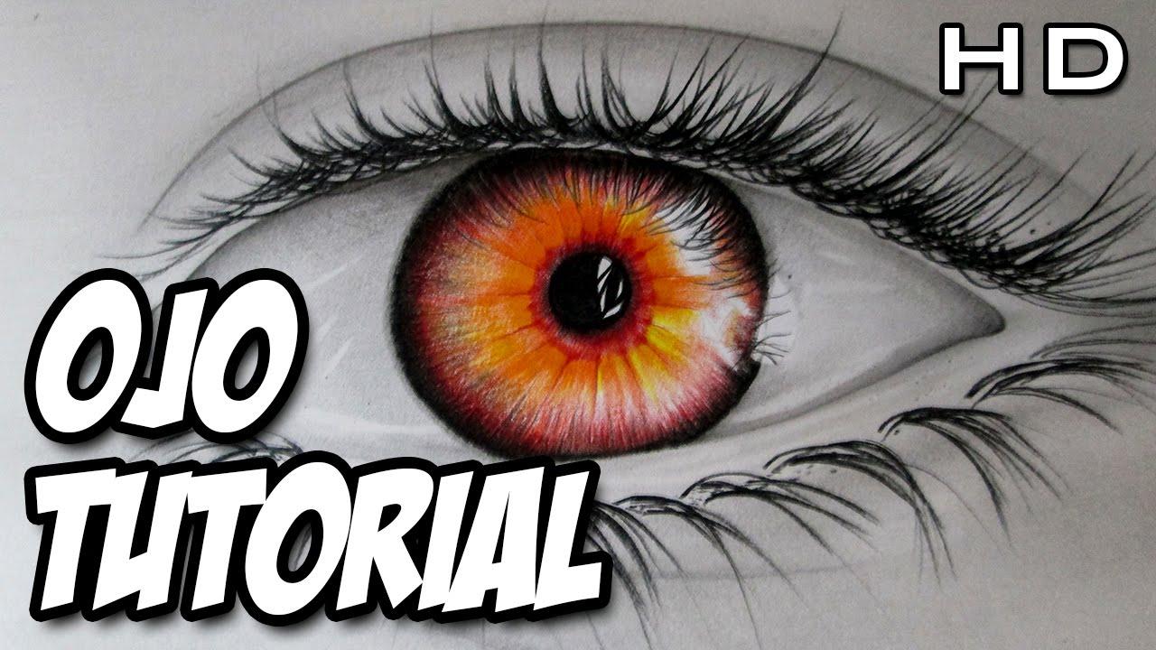 Como Dibujar Un Ojo De Color Rojo Como Dibujar Un Ojo Realista Con