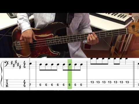 ジェニーハイ/片目で異常に恋してる(Bass cover)5線譜&Tab譜付き カラオケVer