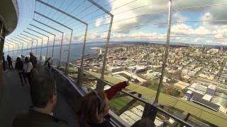 Space Needle Tour, Seattle Washington (High Def GoPro Hero 3)