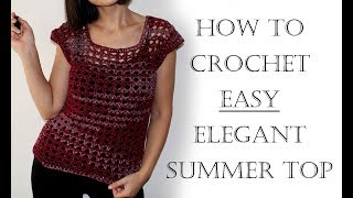 How to Crochet a Summer Top Beginner Friendly