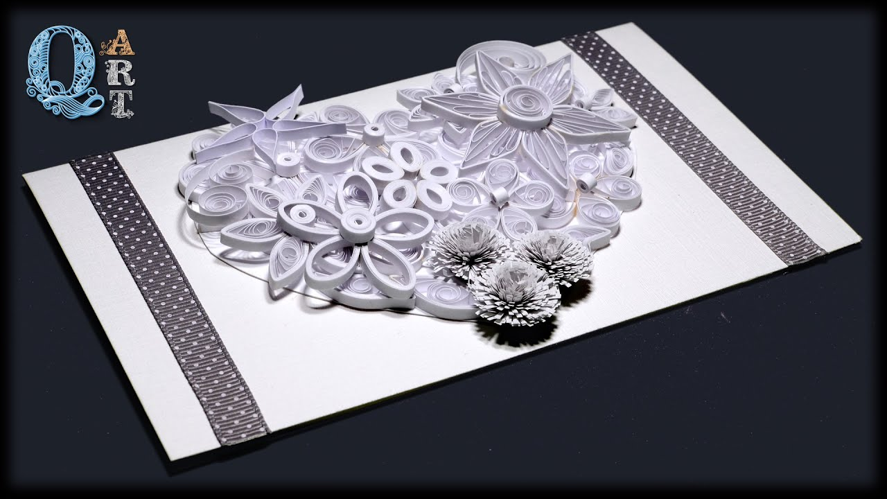 Wedding Invitation Card Handmade: Handmade Wedding Invitation Or St Valentine's Day Quilling