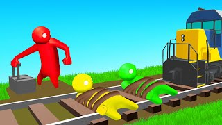 DON'T GET HIT By The TRAIN! (Gang Beasts)