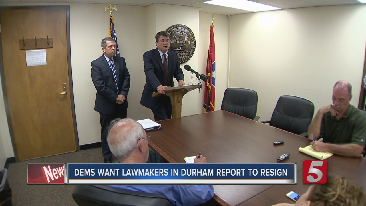 Democrats Demand Resignation of Lawmaker In Durham Report