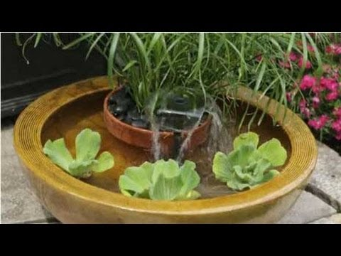 Create container water fountains youtube for How to water a garden