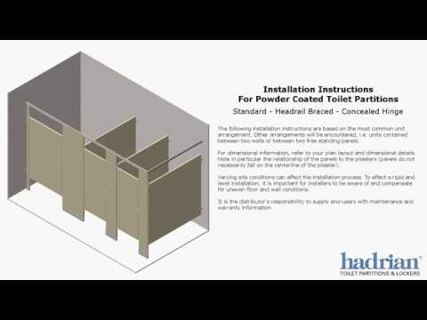 Hadrian toilet partition installation instructions - How to install bathroom partitions ...