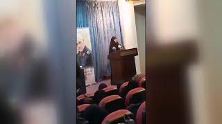 زينب سليماني تطالب الأمين العام لميليشيا حزب الله بالثأر لوالدها