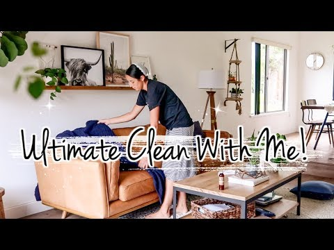 ULTIMATE Weekend CLEAN WITH ME  2019 | How to Clean Leather Furniture | Extreme Cleaning Motivation