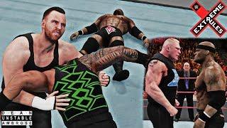 Dean Ambrose Returns as Heel: Bobby Lashley vs Roman Reigns Extreme Rules 2018 WWE 2K18 feat. Lesnar