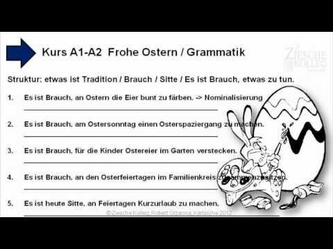 A1-A2 Grammatik Nominalisierung Hauptsatz-Konstruktion