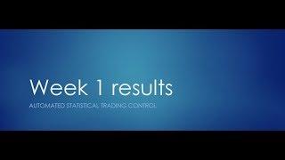 Reinforcement Learning vs Statistics in Trading Week 1