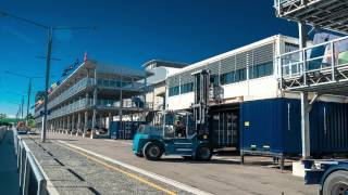V8 Supercars - Homebush Race Control & Media Centre - Shipping Container Building