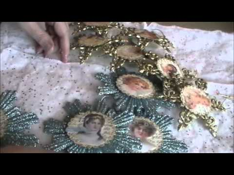 Dollar Tree Craft: Victorian Angel Ornaments