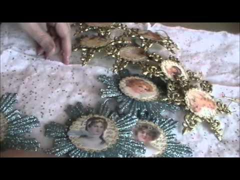 Dollar Tree Craft: Victorian Angel Ornaments