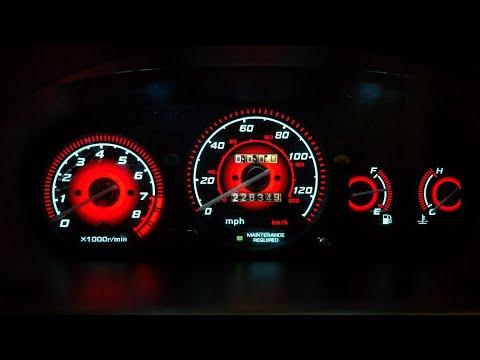96 - 00 Honda Civic EX EL Glow Gauges Installation And Demo Radiant Red