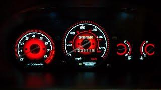 Gauge Faces Type-R style for Honda Civic Ek 96-00 Instrument Cluster Dashboard