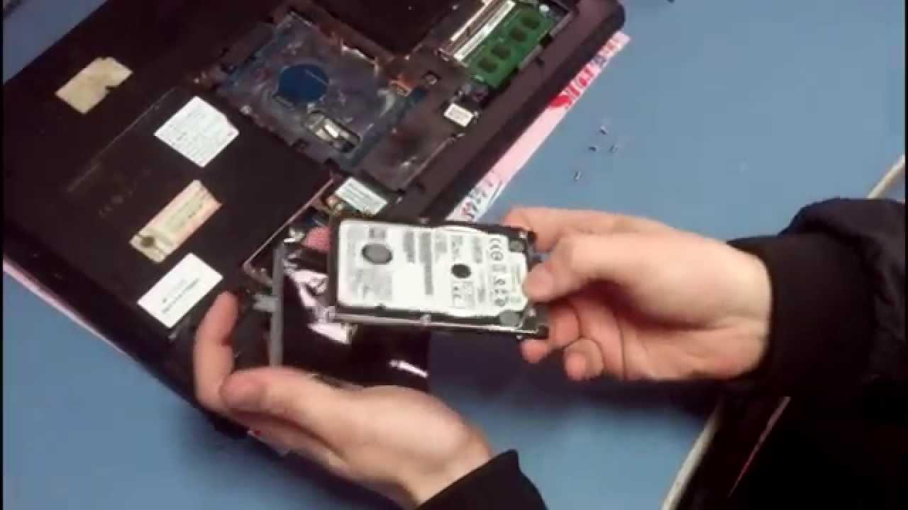 Замена HDD на SSD на ноутбуке Samsung r519 Установка SSD в ноутбук .