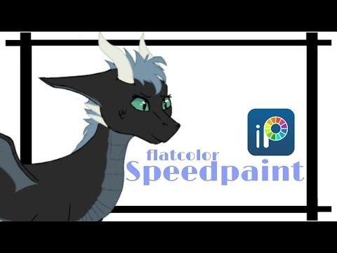 Audra // Rushed Dragon OC Speedpaint (Flatcolor) [Ibis Paint X]