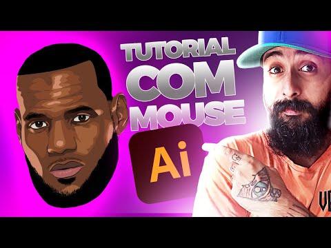 COMO DESENHAR ROSTO COM MOUSE PASSO A PASSO   Adobe Illustrator tutorial thumbnail