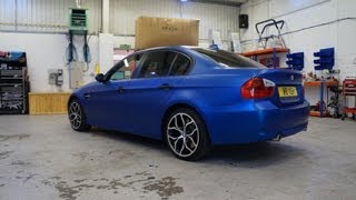 vinyl wrapping a bmw by pw pro using hexis vinyl