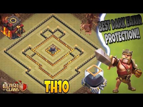 BEST TOWN HALL 10 (TH10) DARK ELIXIR FARMING BASE 2017!! |Clash Of Clans