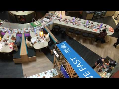 Sushi Bar Bluewater Shopping Centre UK  4k