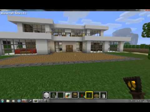 Minecraft moderne h user youtube for Modernes haus minecraft