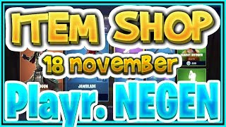 Fortnite ITEM SHOP November 18th ENGLISH (UK) all new SKINS and EMOTES-+-Playr NINE-+-