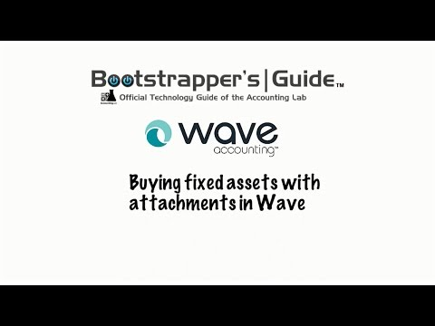Fixed Assets With Receipts In Wave