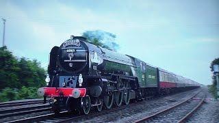 60163 Tornado Races Through Yatton - The Torbay Express - 2015