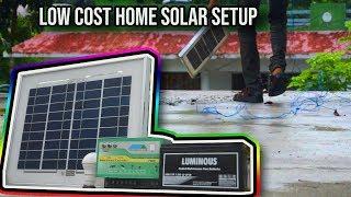 Home Solar Setup Low Cost ||Home simple solar || Solar Light || Solar power supply new
