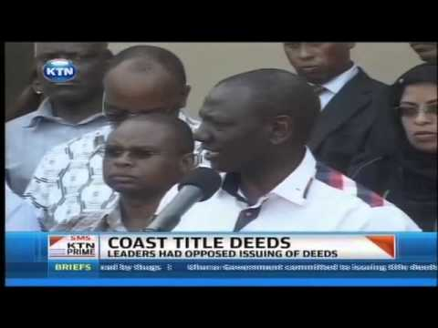 Coast residents get land titles