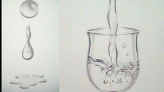 cómo dibujar agua fácilmente dibujar una gota de agua