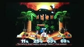 👸Up Smash Jigglypuff with Marth attacks with Boss Galaga!    Super Smash Brothers
