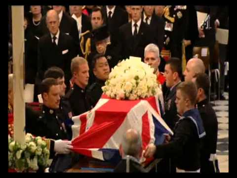 Becca Lush (09:20) at Margaret Thatcher's funeral C4 News 17Apr13