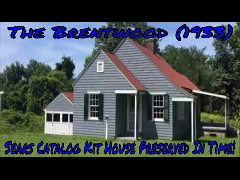 """The Brentwood"" A 1933 Sears Catalog Kit House Preserved In Time! In Historic Centreville Park"