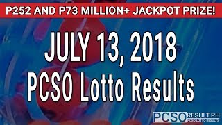 PCSO Lotto Results Today July 13, 2018 (6/58, 6/45, 4D, Swertres, STL & EZ2)