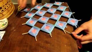 Квадратная мандала, один из способов/square mandala