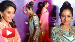 Sridevi Walks Away Ignoring Madhuri Dixit - Catfight | Colors Party 2015