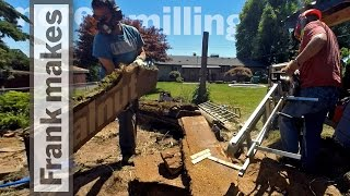 More Chainsaw Milling the Walnut Tree