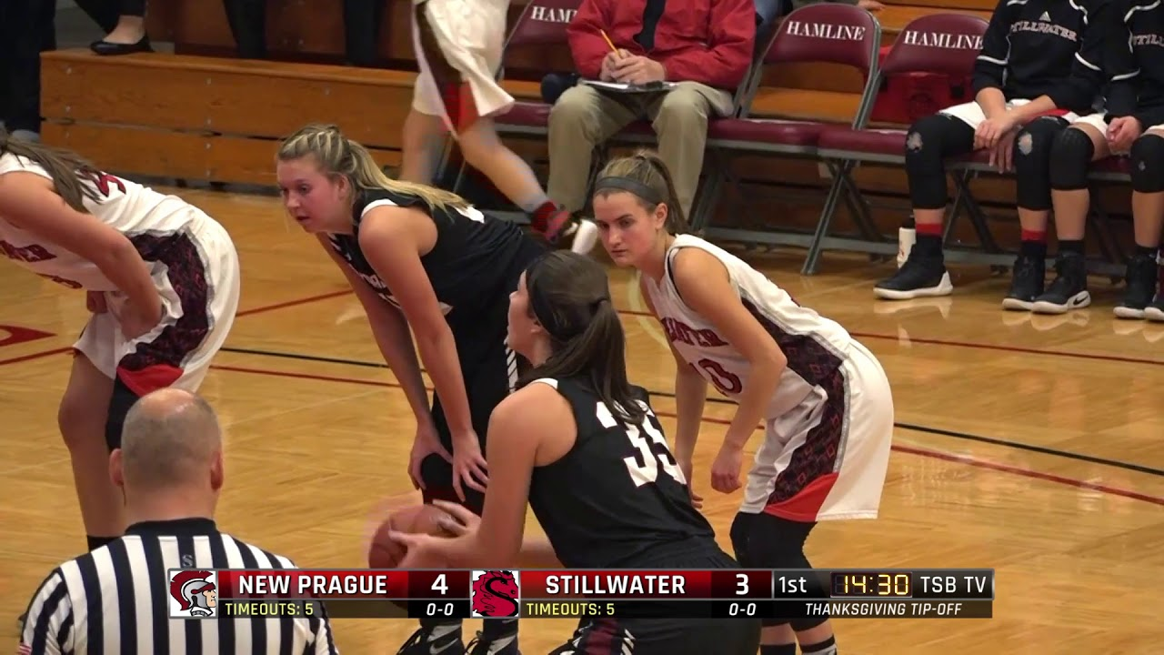 high school girls basketball new prague vs stillwater