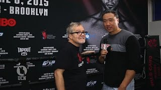 Freddie Roach interview at Miguel Cotto workout - UCN Exclusive