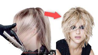 Как стричь Женские Стрижки на Средние волосы Стрижка Шегги Стрижка Каре