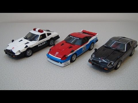 TRANSFORMERS MASTERPIECE SMOKESCREEN, PROWL, AND BLUESTREAK VIDEO TOY REVIEW