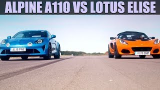 Alpine A110 VS Lotus Elise - Fifth Gear Shootout  Fifth Gear