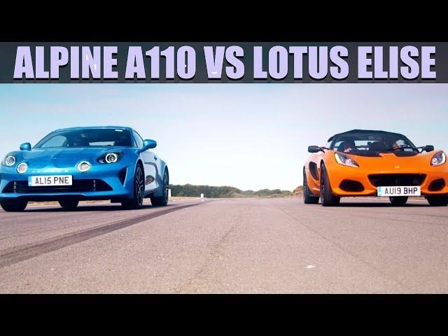 Alpine A110 VS Lotus Elise - Fifth Gear Shootout | Fifth Gear