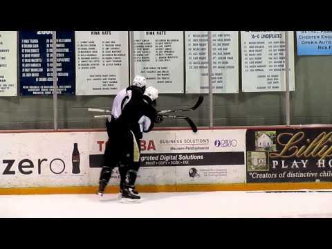 Kris Letang & Deryk Engelland 'Fight' @ Practice: ROUND 2