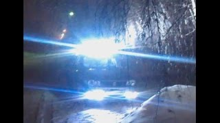 Авто LED прожектор 10 000 Lum. 100W. из 10 китайских фонарей, на неодимовых магнитах(Световой поток около 9000 -12000 люмен, 100 ватт. С аКкума на драйвер потребляет 14 ампер , с драйвера на фару 3А,..., 2015-02-19T00:59:14.000Z)
