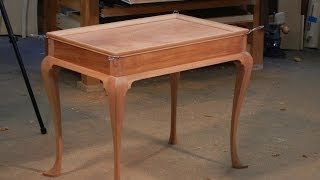 Newport Tea Table Handmade By Doucette And Wolfe Furniture Makers
